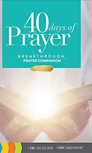 40 Days of Prayer Companion Guide