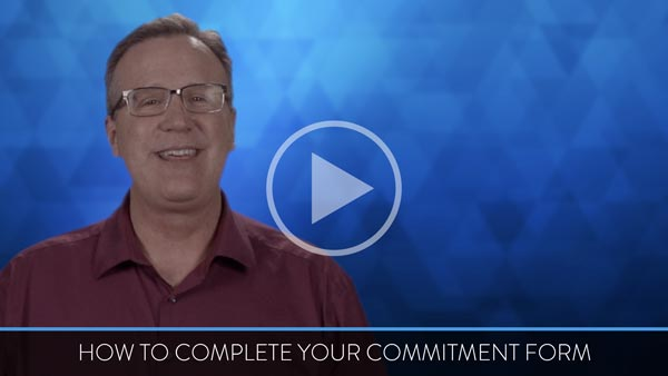 How to complete Commitment Form
