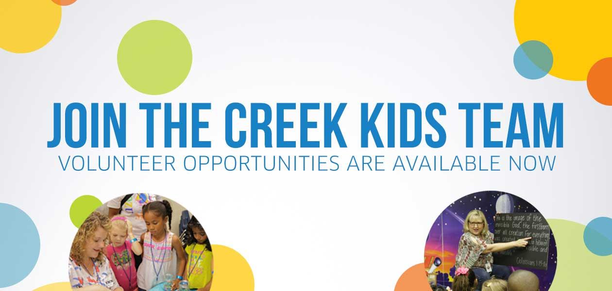 Creek Kids Volunteer banner