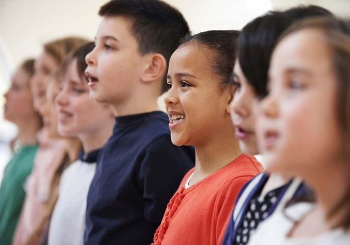 multigenerational youth children choir