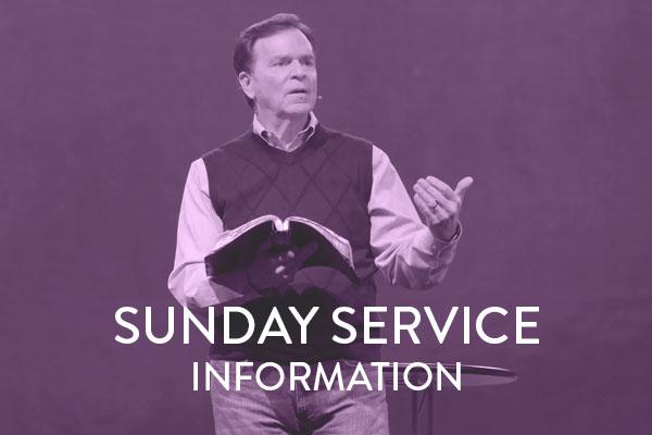 Sunday Service Information